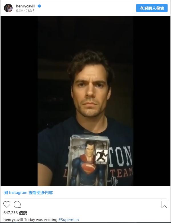 亨利卡維爾發布意義曖昧不明的短片,回應辭演超人的傳聞。圖/摘自Instagram