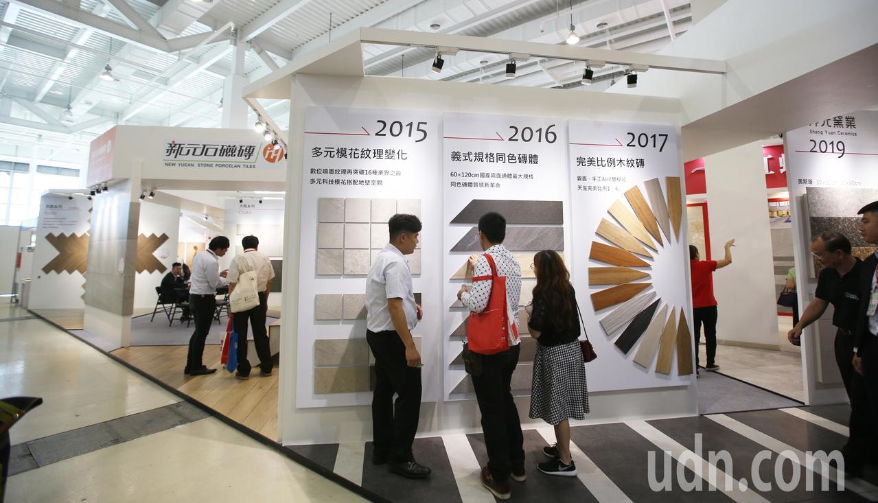 南台規模最大高雄建材展今天在高雄展覽館登場展出四天。記者劉學聖/攝影