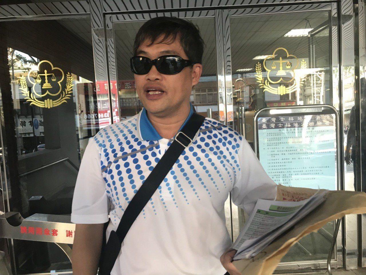 高雄市議員蕭永達今日出庭。記者蕭雅娟/攝影