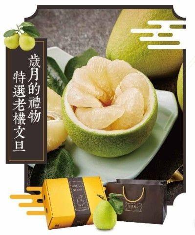 嚴選台南麻豆老欉文旦禮盒990元。 圖/遠百提供