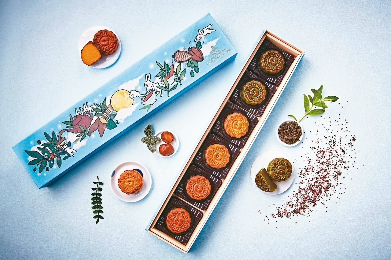 香格里拉台南遠東國際大飯店,「香月月餅禮盒」6入898元。 圖/遠百提供