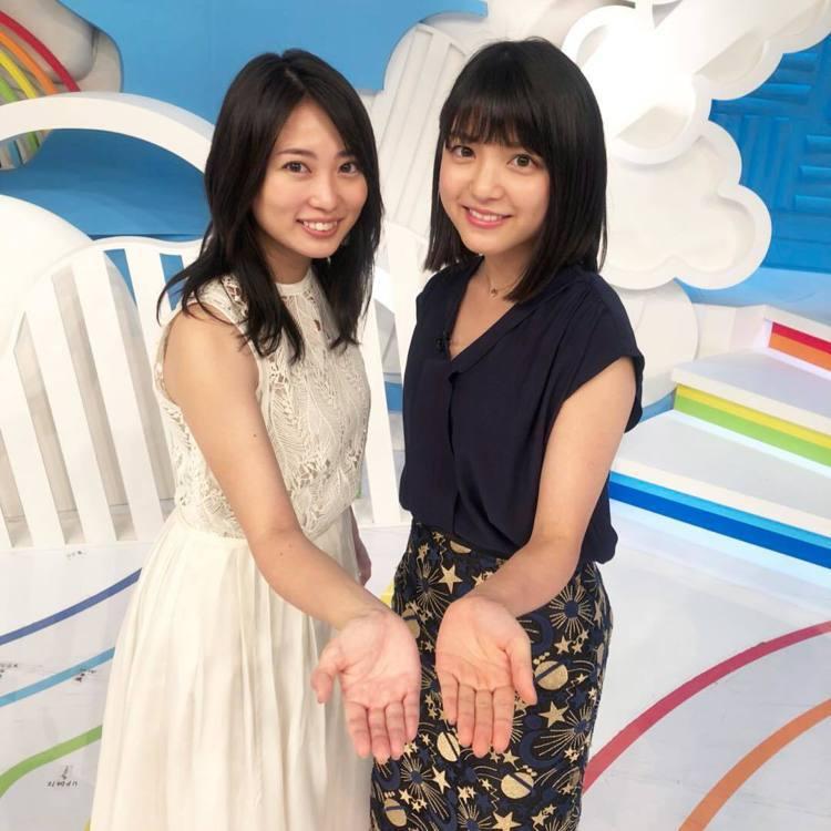 (左)志田未來、新垣結衣的師妹川島海荷兩人是高中同學。擷自instagram