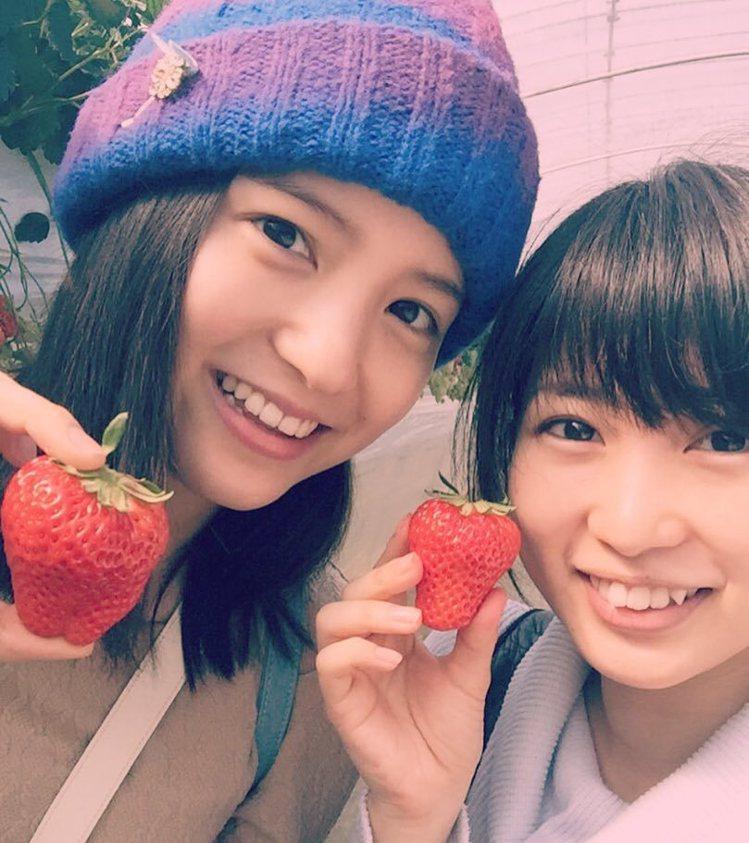 (左)川島海荷、志田未來私底下是好友。擷自instagram