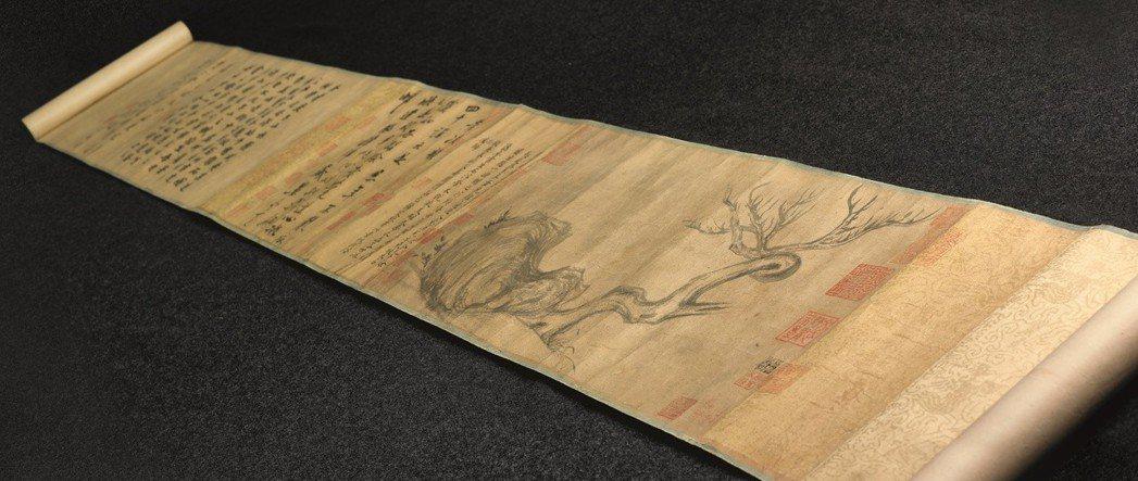 消失百年的蘇軾「木石圖」重現江湖,目前估價上看4億港幣(約15.66億台幣)。圖...