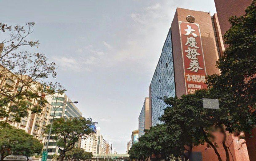 圖為大慶證券台北總公司。圖/擷自Google Map