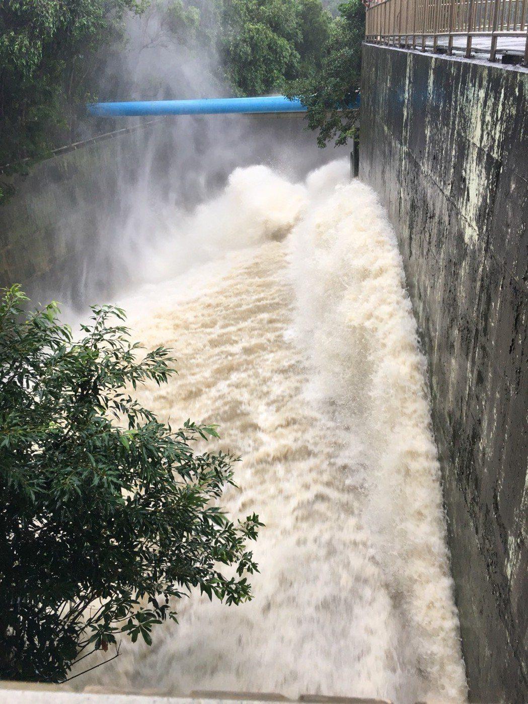 排水隧道放水情況。 南水局/提供