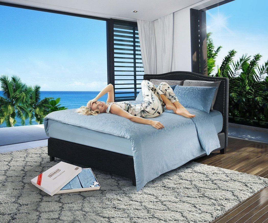 買床墊再送萬元寢具,席夢思全系列39,999元起。席夢思/提供