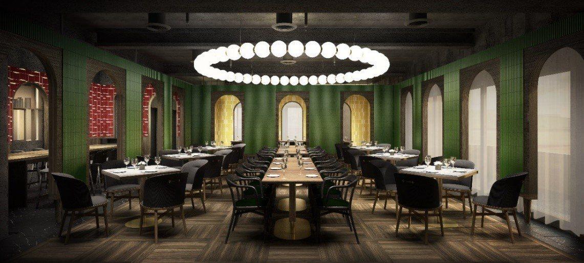 金普頓大安酒店餐廳示意圖。圖/金普頓大安酒店提供