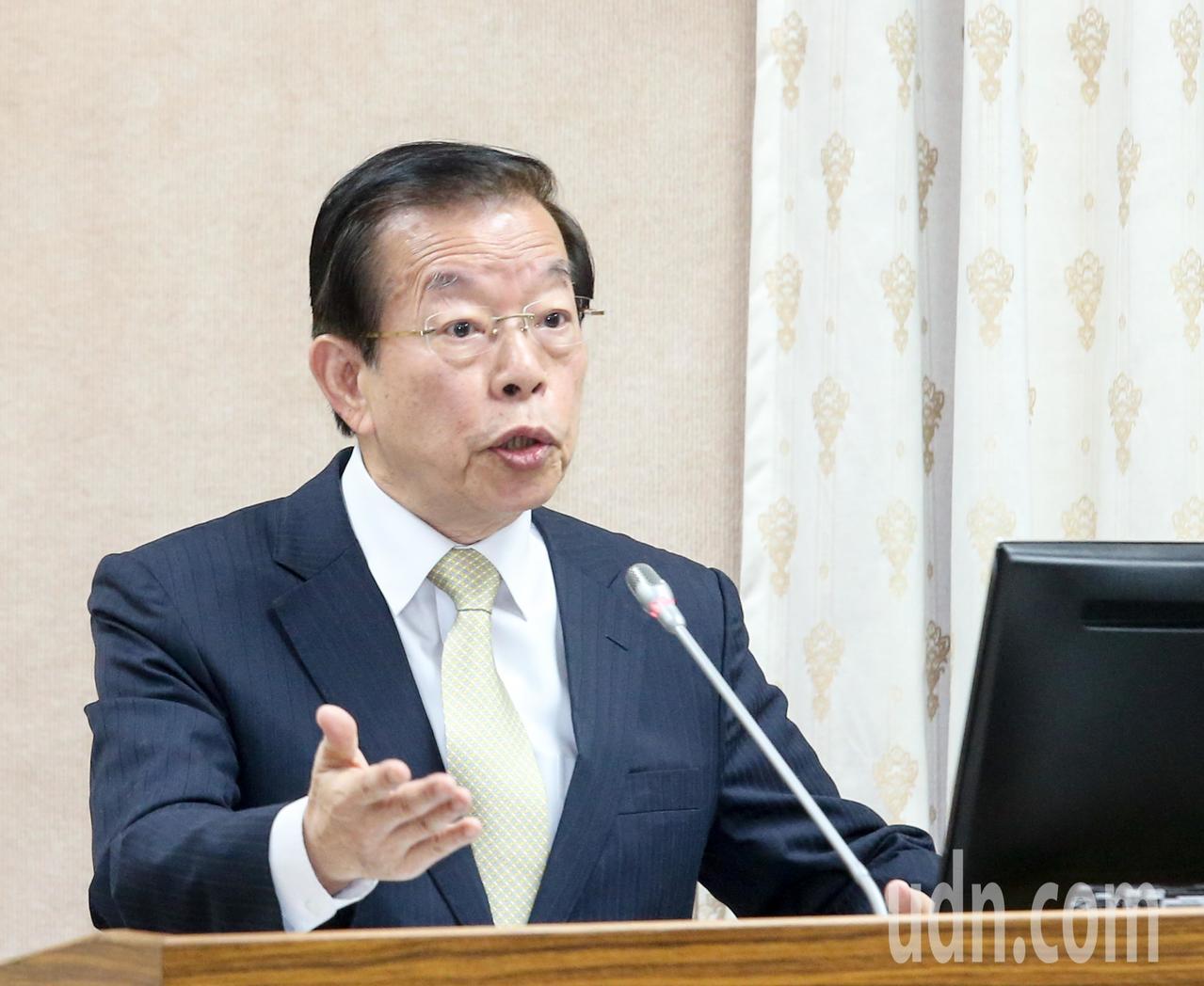 駐日代表謝長廷對於大阪辦事處長輕生表示震驚。圖為今年3月他在立法院外交及國防委員...