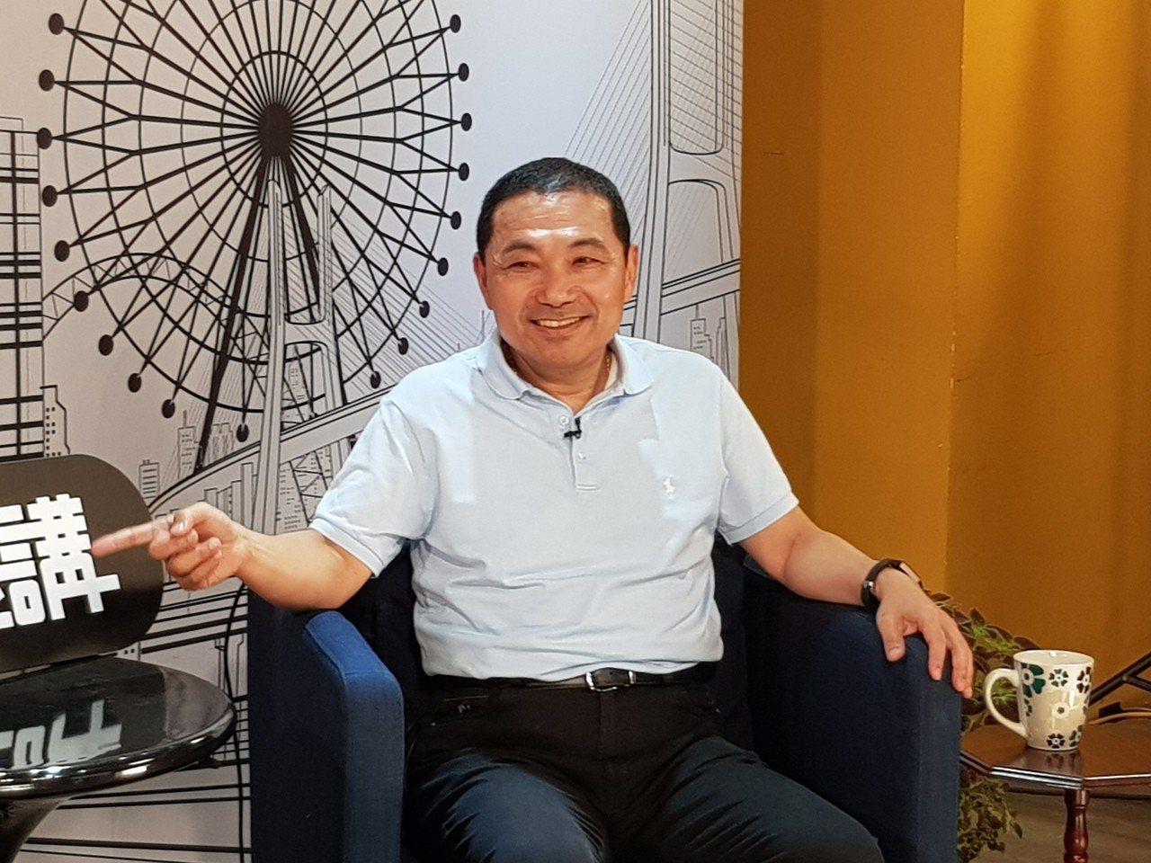 國民黨新北市長參選人侯友宜今天到台北大直接受「未來市長講」專訪。記者翁浩然/攝影