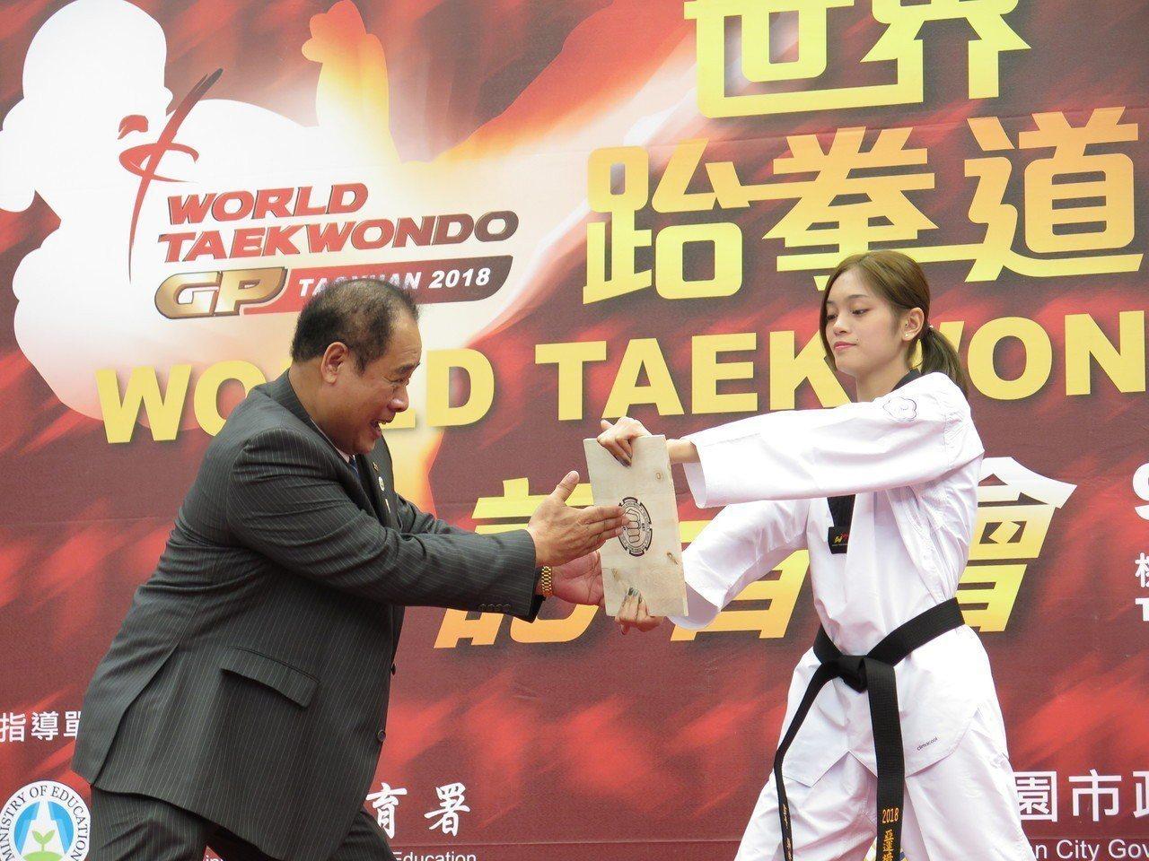 台灣首度舉辦世界跆拳道大獎賽,19日起一連3天在桃園巨蛋登場,今邀來雅加達巨港亞...