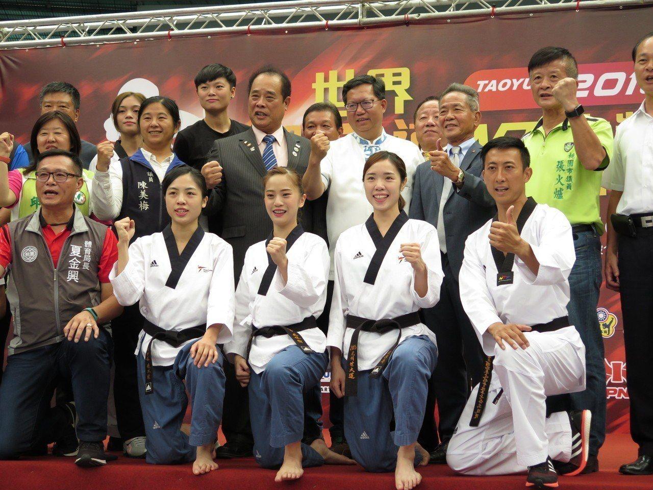 台灣首度舉辦世界跆拳道大獎賽,19日起一連3天在桃園巨蛋登場。記者張裕珍/攝影