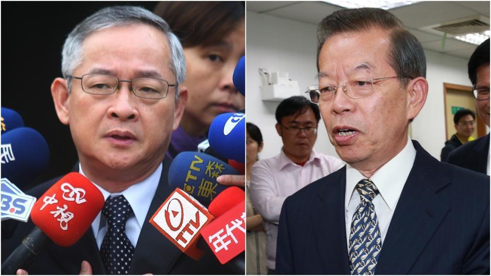 林郁方(左)、謝長廷。 聯合報系資料照/記者陳正興、黃義書攝影