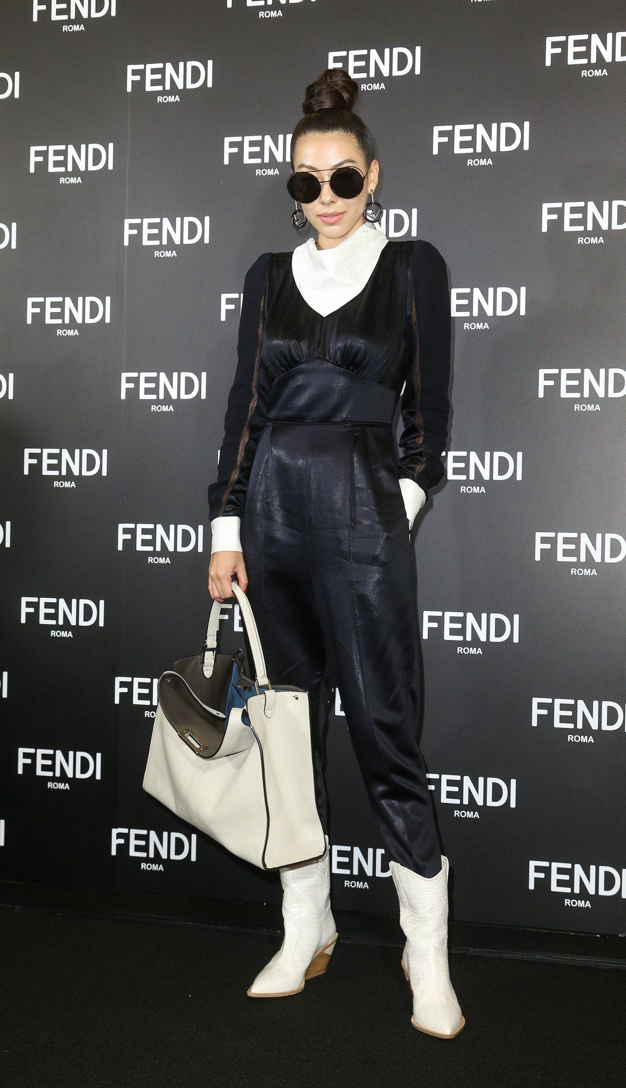 蔡詩蕓為FENDI全新台北101旗艦店開幕酒會擔任DJ。記者陳立凱/攝影