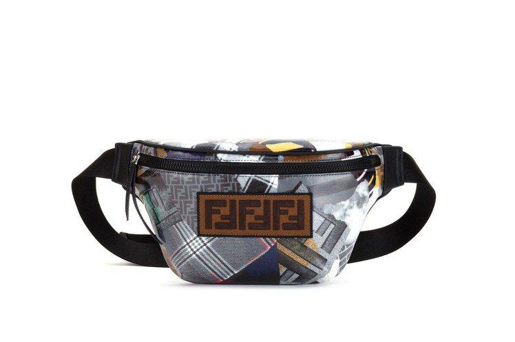FENDI男士 拼接腰包,34,900元。圖/FENDI提供