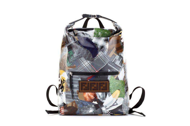FENDI男士 Logo拼接肩背包,48,500元。圖/FENDI提供