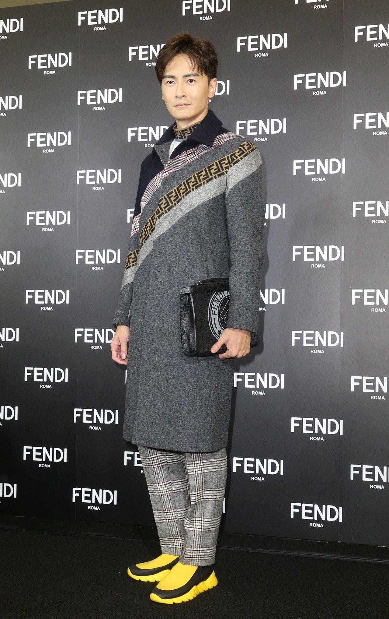 鄭元暢穿冬季大衣出席FENDI全新台北101旗艦店開幕酒會。記者陳立凱/攝影