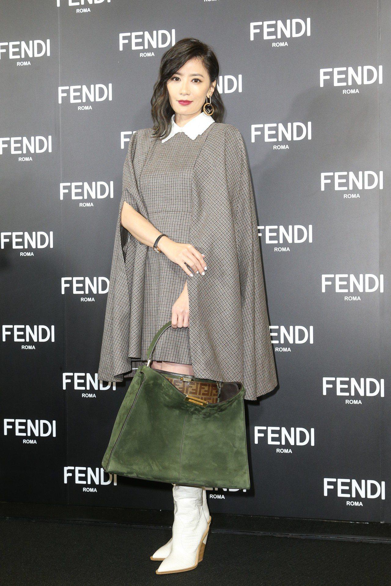 賈靜雯出席FENDI全新台北101旗艦店開幕酒會。記者陳立凱/攝影