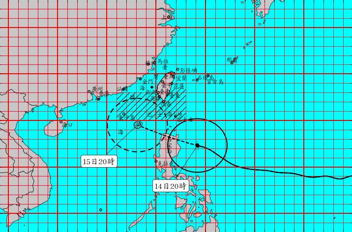 強颱山竹動態圖。圖/氣象局提供