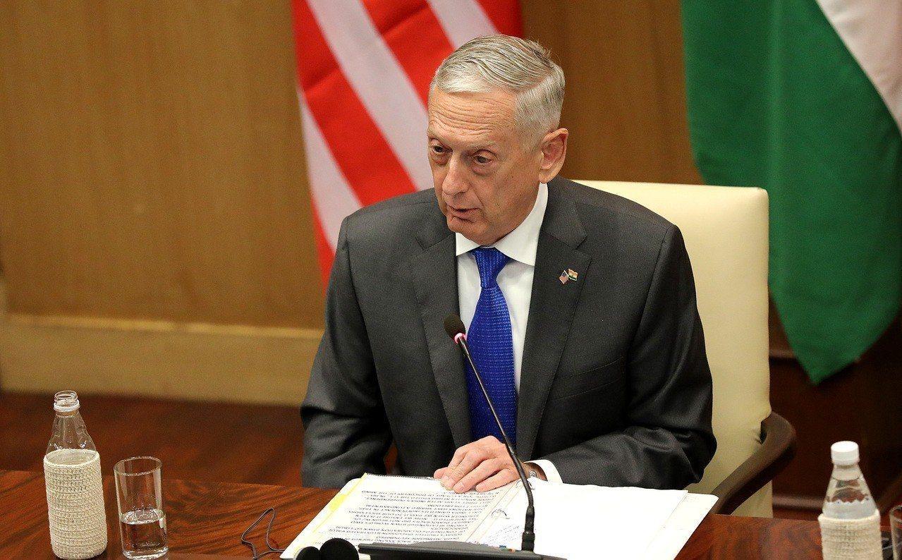 美國國防部長馬提斯。(歐新社)