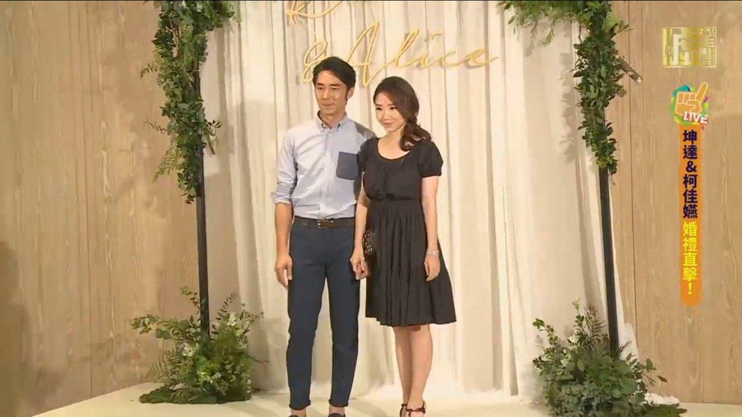 陶子(右)與李李仁(左)出席坤達與柯佳嬿婚禮。