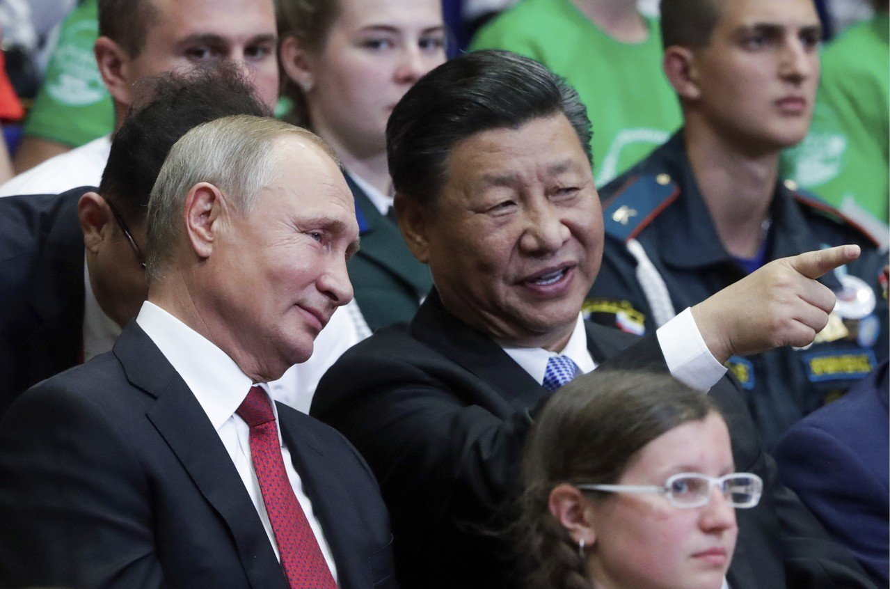 俄羅斯總統普亭和中國國家主席習近平 美聯社