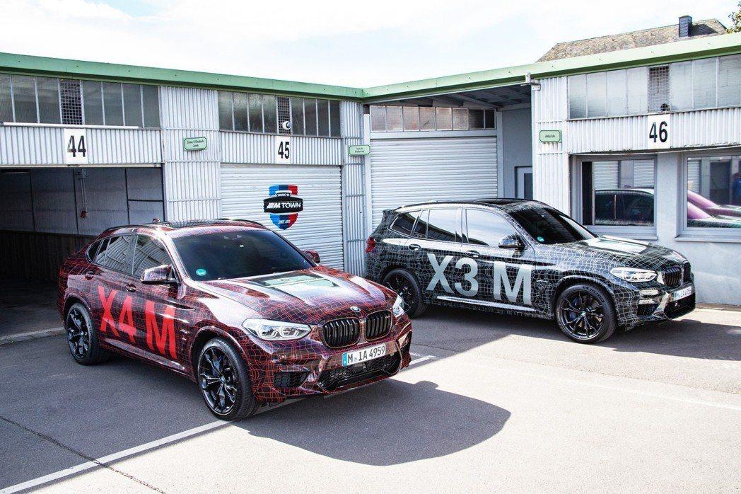 全新BMW X3 M、X4 M偽裝原型車。 摘自BMW