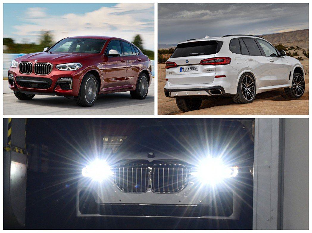 新世代BMW X4、X5與全新BMW X7。 摘自BMW
