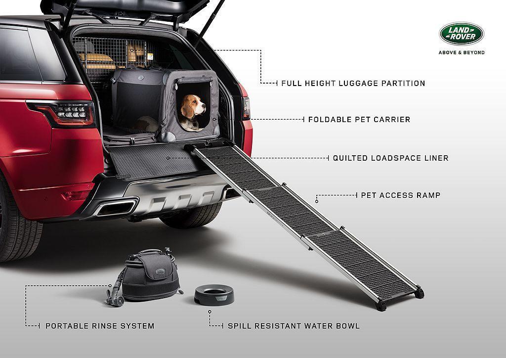 Land Rover Pet Pack套件適於旗下各種休旅車,如Discovery Sport、Discovery、Range Rover Evoque、Range Rover Velar、Range Rover Sport以及Range Rover等。 圖/Land Rover提供