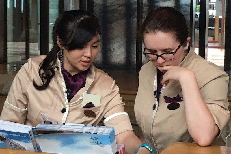 作為國際五星飯店,在礁溪老爺工作的職員大多需要良好的英語口說表達與溝通力。 (照...