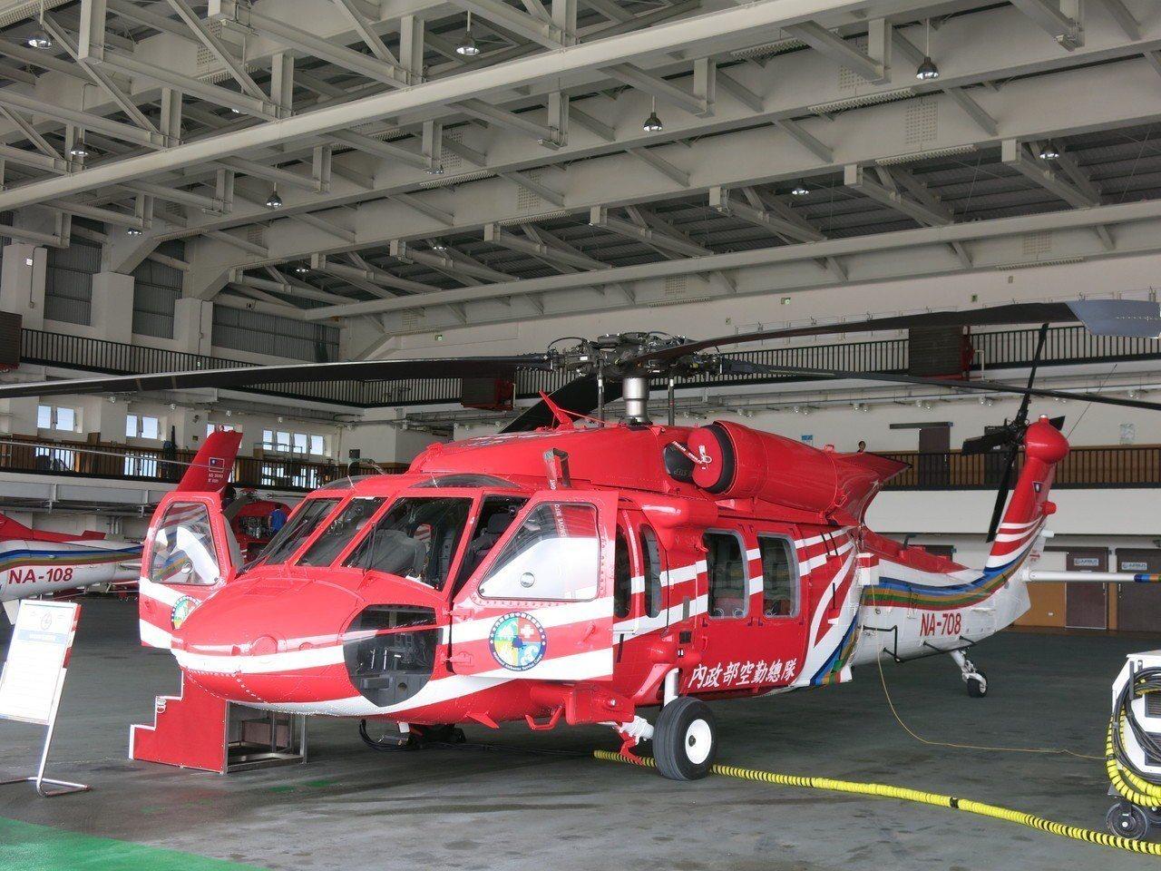 黑鷹直升機以其大馬力性能,目前是國內高山空勤救援的主力機種。記者黑中亮/攝影