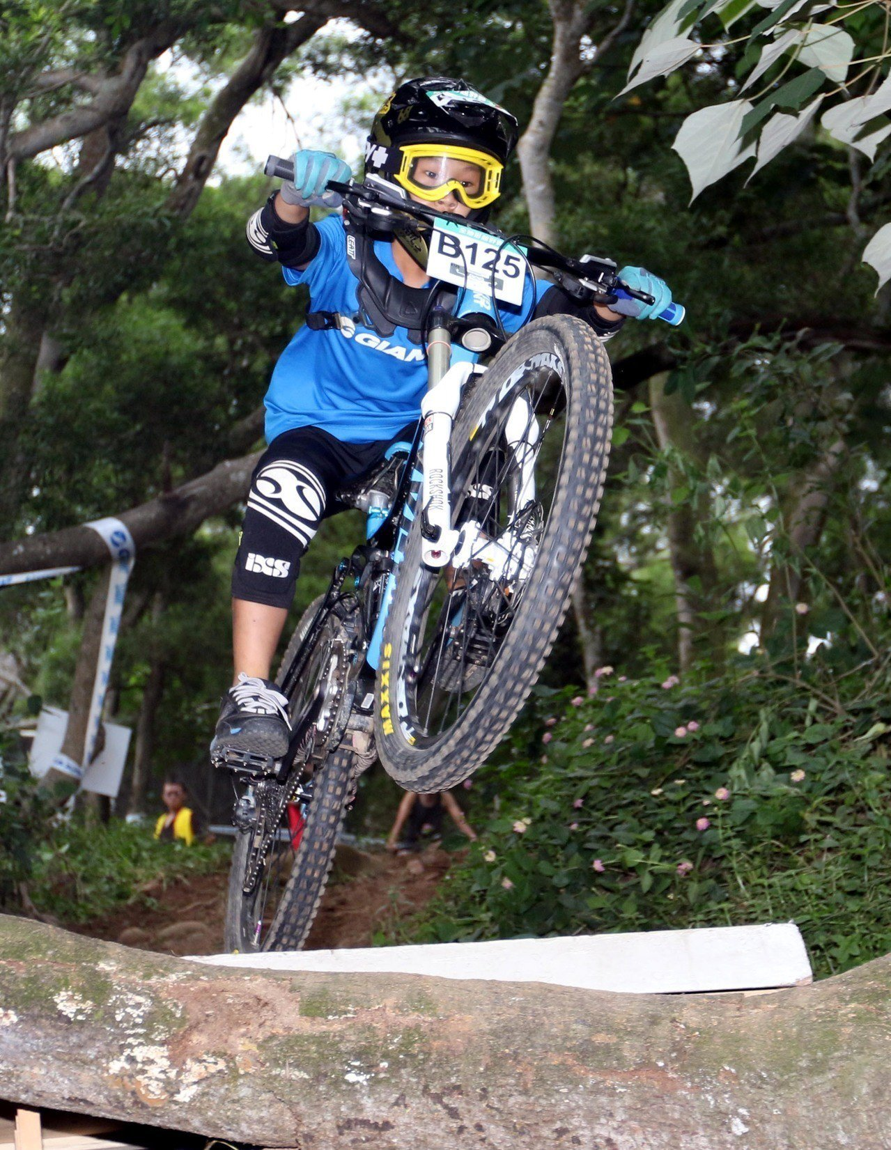 12歲劉子齊是公開組年紀最小的選手。圖/捷安特提供