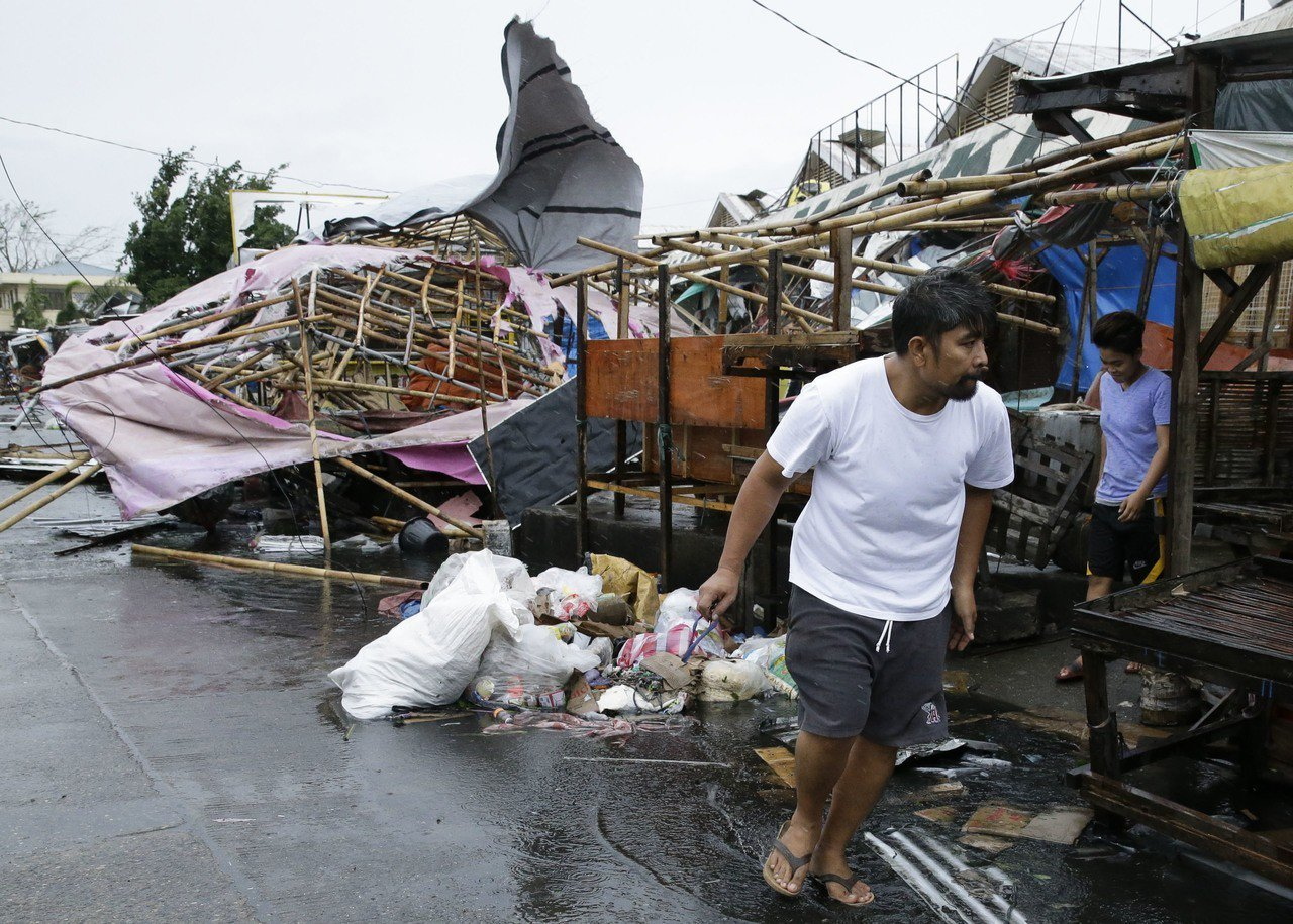 全世界今年截至目前威力最強的超級颱風「山竹」15日侵襲菲律賓北部,卡加煙省(Ca...