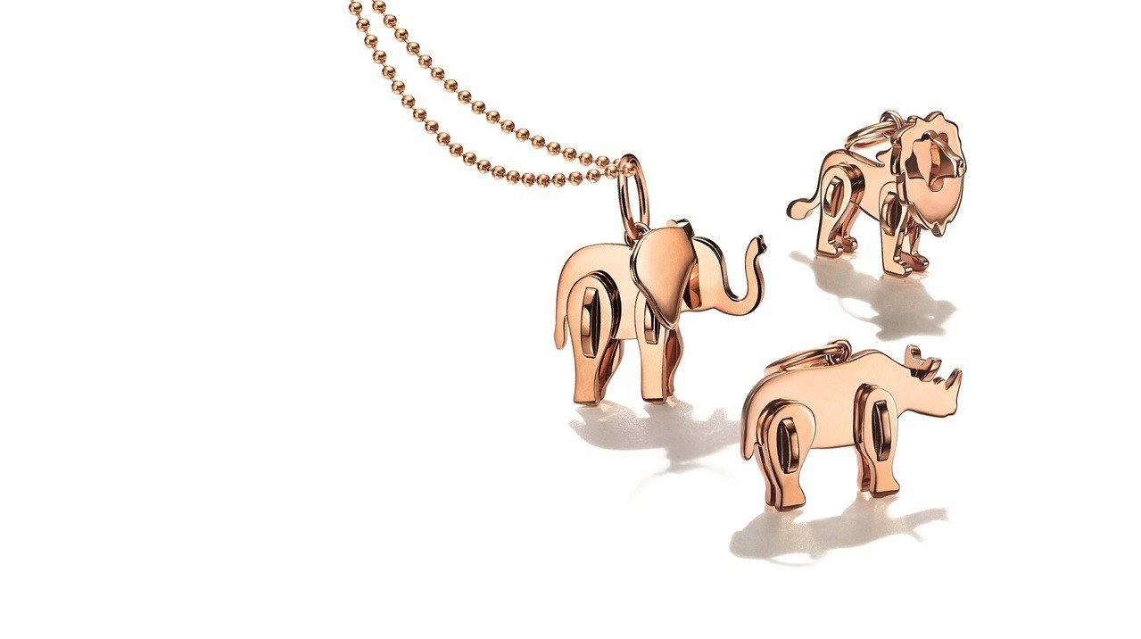 (由上至下)Tiffany 2018 Save the Wild系列獅子、大象、...