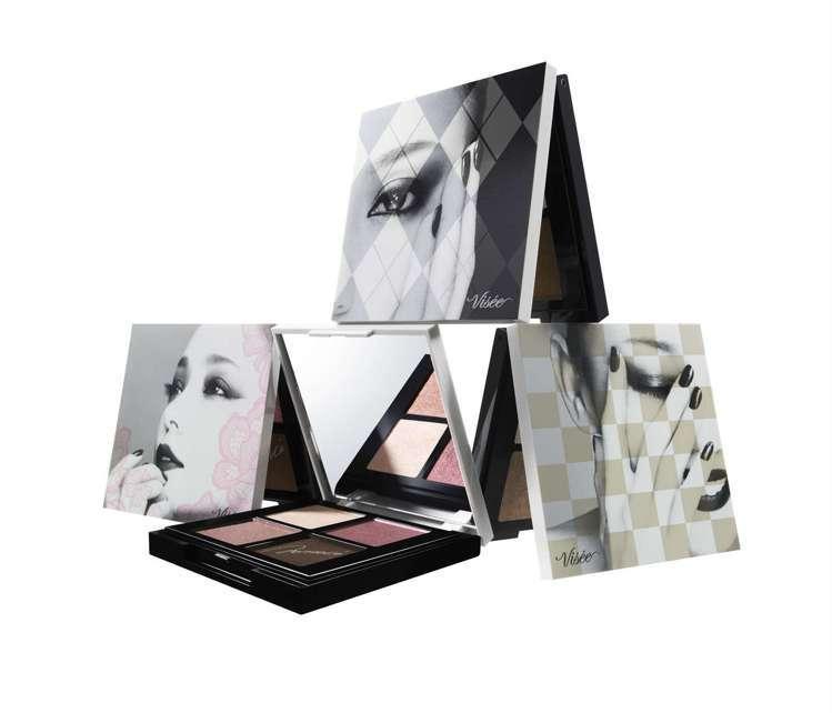 Visee X 安室奈美惠聯名限量版時尚精選眼影盤NA共有3款包裝與色系。圖/V...
