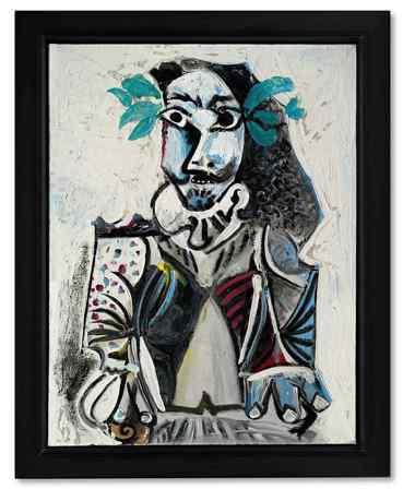 畢卡索1969年作品「勝利者」,估價約1.95 億元起。圖/蘇富比提供