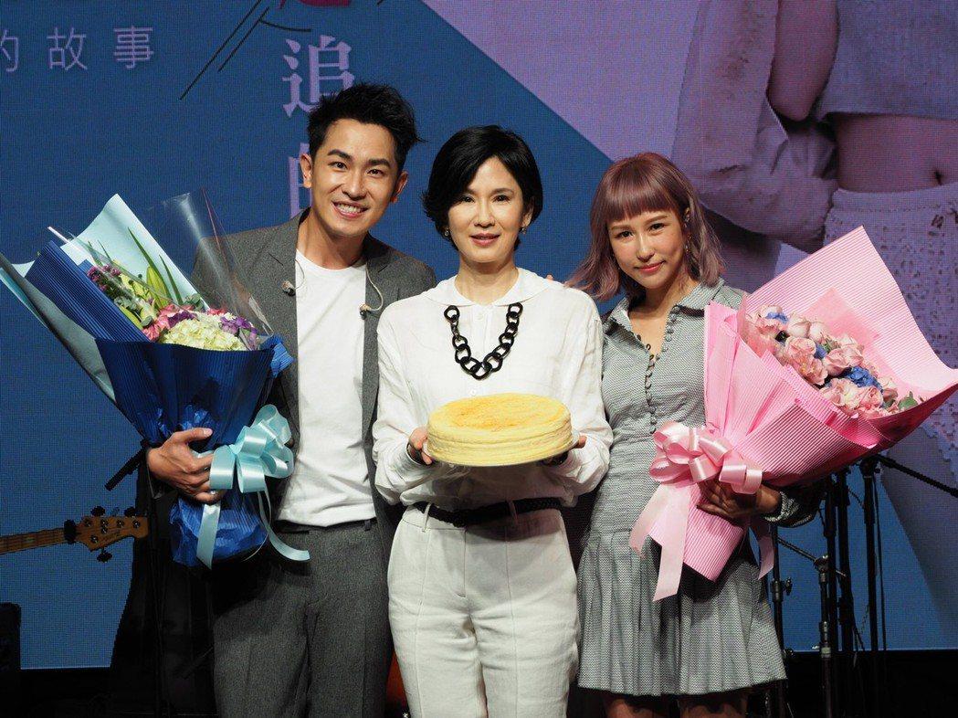 葉歡、陳謙文演過母子,私下情感親如一家人。圖/星火映畫提供