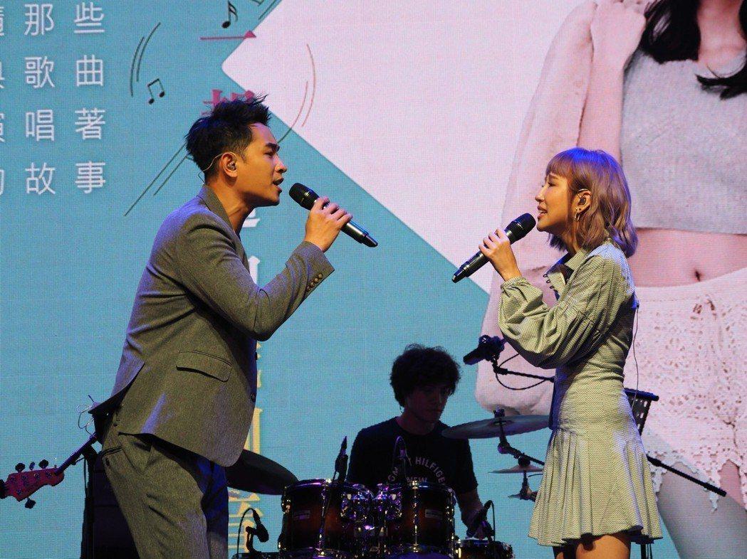 陳謙文、潘嘉麗為「發現好音樂」系列演唱會彩排。圖/星火映畫提供