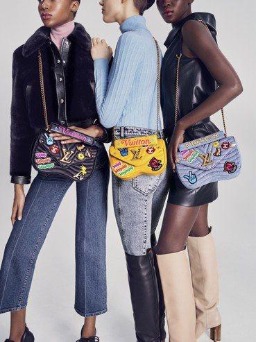 New Wave在近期上市全新的顏色以及刺繡、拼貼等新款式。圖/LV提供