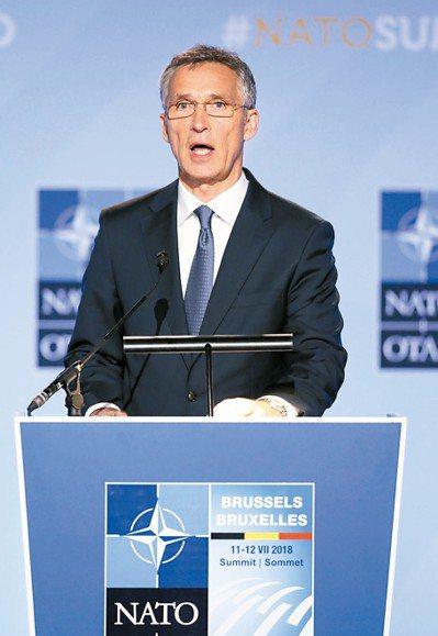 北約秘書長史托騰柏格。 (新華社資料照片)