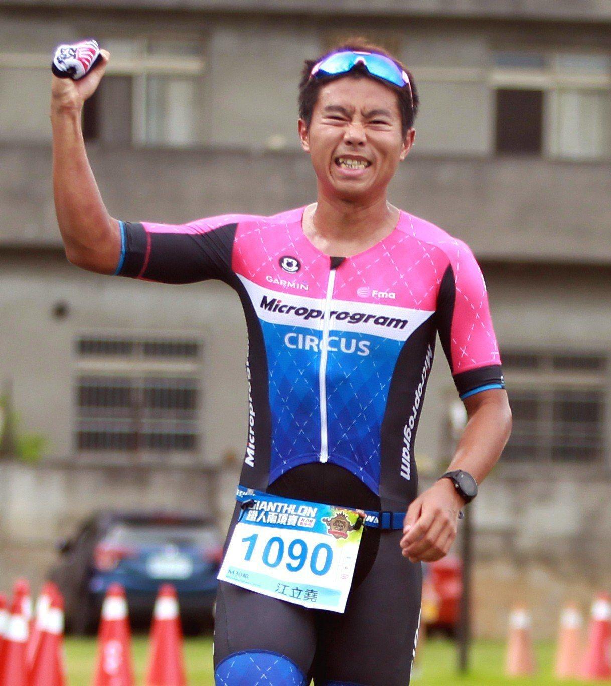 在台中二中擔任體育老師的江立堯睽違3年再度在捷安特盃奪冠。圖/捷安特提供