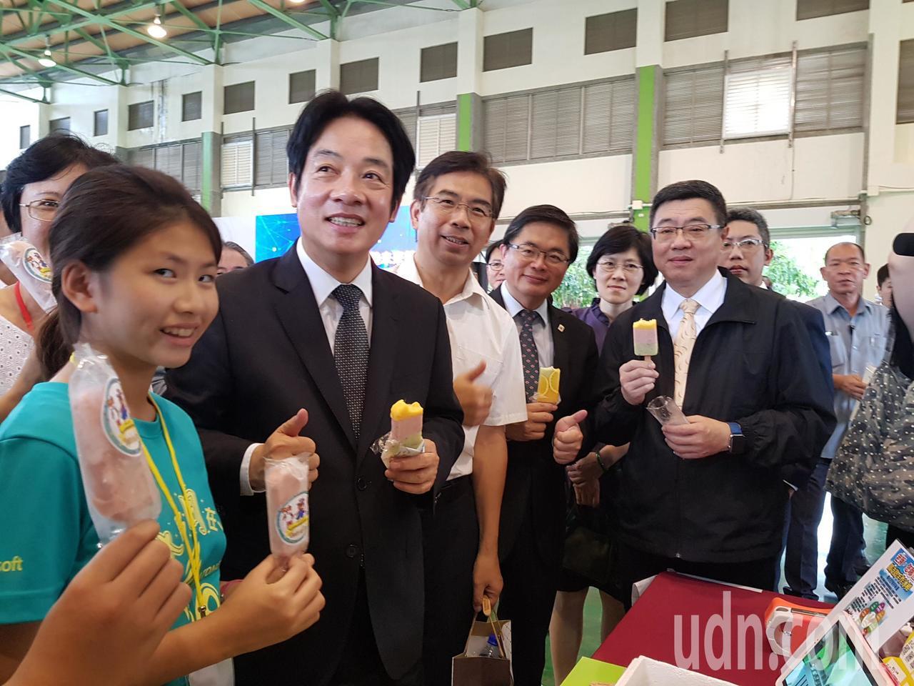 行政院長賴清德上午南下台南宣布設立科學教育體驗未來館 記者修瑞瑩/攝影