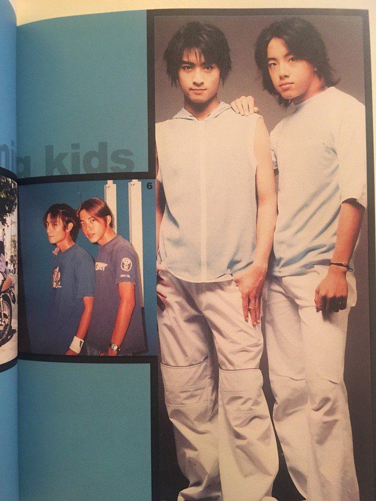 ENERGY正式出道之前,Toro和高中同學坤達拍的宣傳照。圖/翻攝自《我的EN...