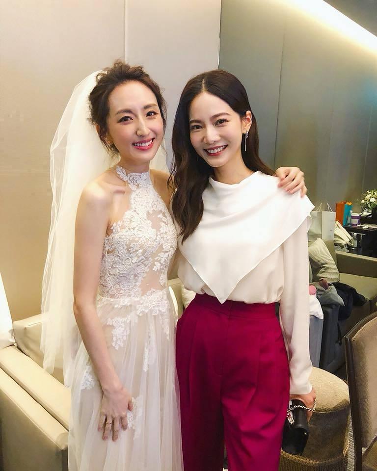 曾之喬出席柯佳嬿婚禮,「必娶女人」合體,勾起許多網友回憶。圖/摘自臉書