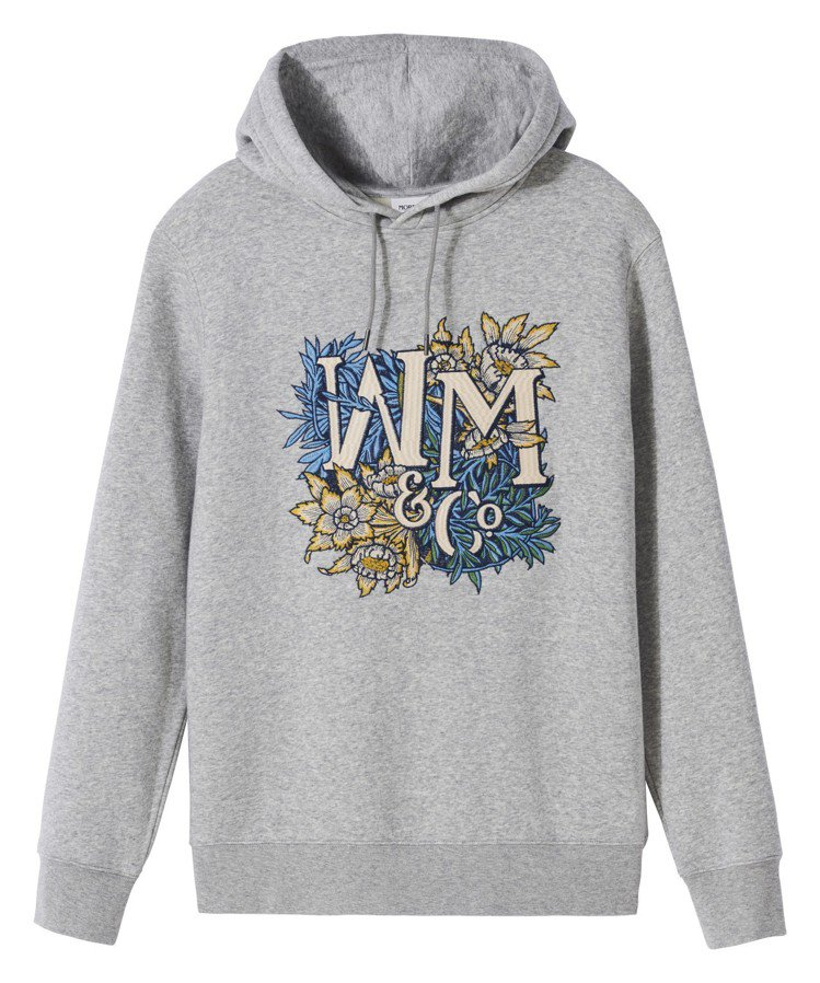Morris&Co.與H&M聯名系列男裝連帽上衣,1,299元。圖/H&M提供
