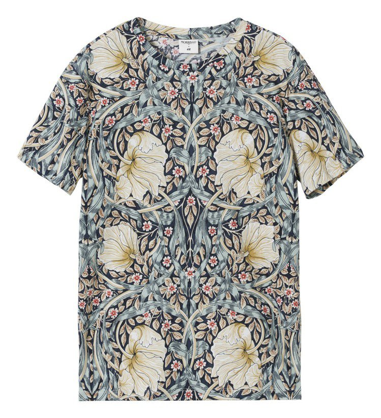 Morris&Co.與H&M聯名系列男裝T恤,599元。圖/H&M提供