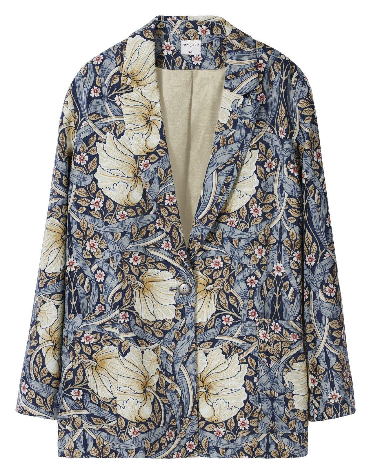 Morris&Co.與H&M聯名系列女裝外套,1,699元。圖/H&M提供