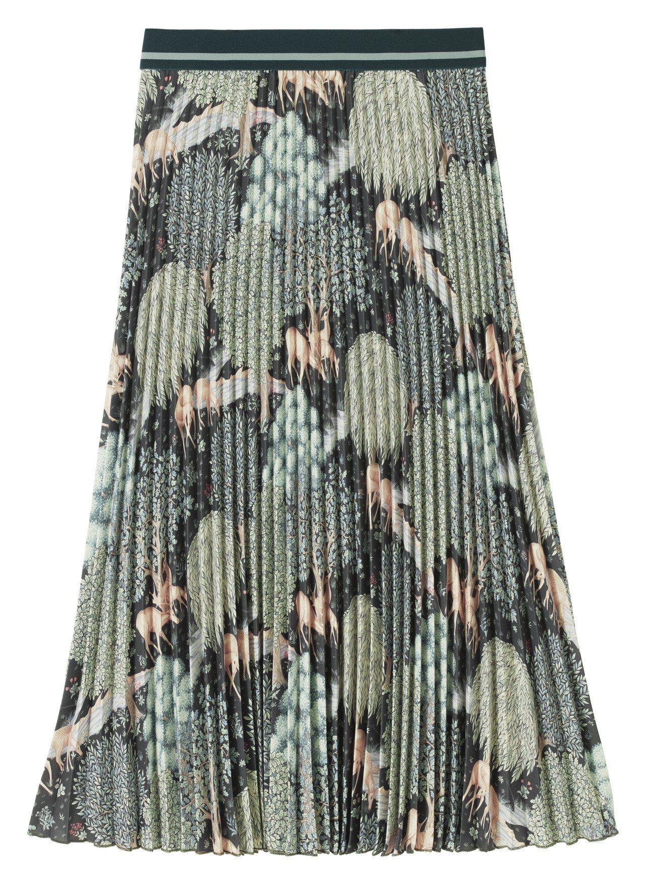Morris&Co.與H&M聯名系列女裝摺裙,1,699元。圖/H&M提供