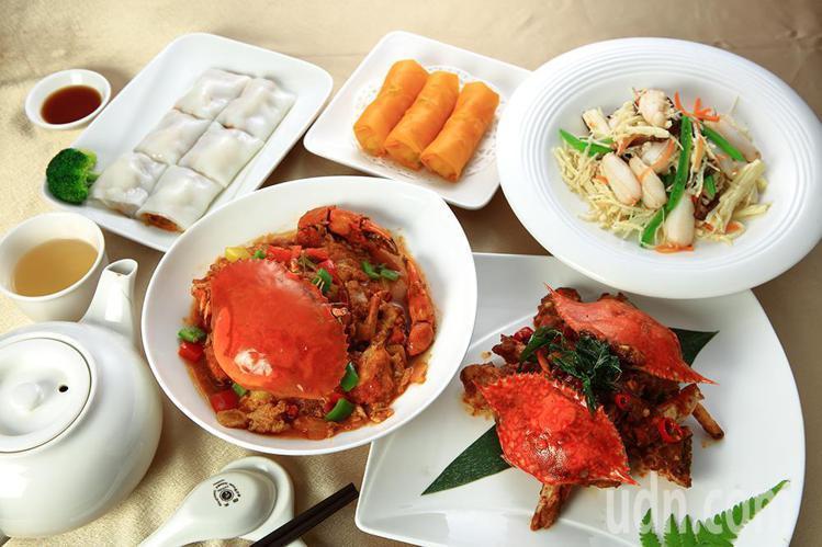 高雄寒軒國際飯店研發多樣的港式蟹肉點心。圖/記者謝梅芬攝影