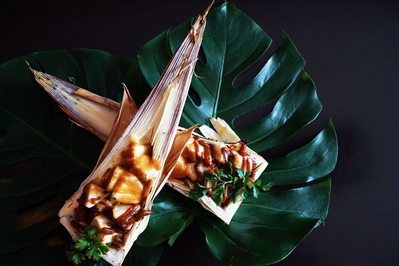 秋日菜餚「東山雙寶味噌醬起司焗山筍」。圖/台南美食節提供